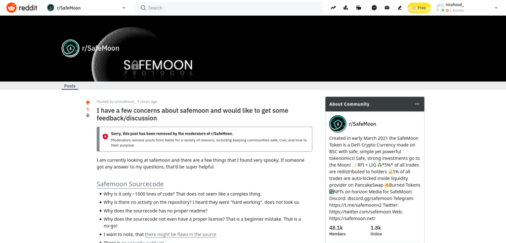 Safemoon or Fakemoon? Is Safemoon a scam? Deleted Reddit post