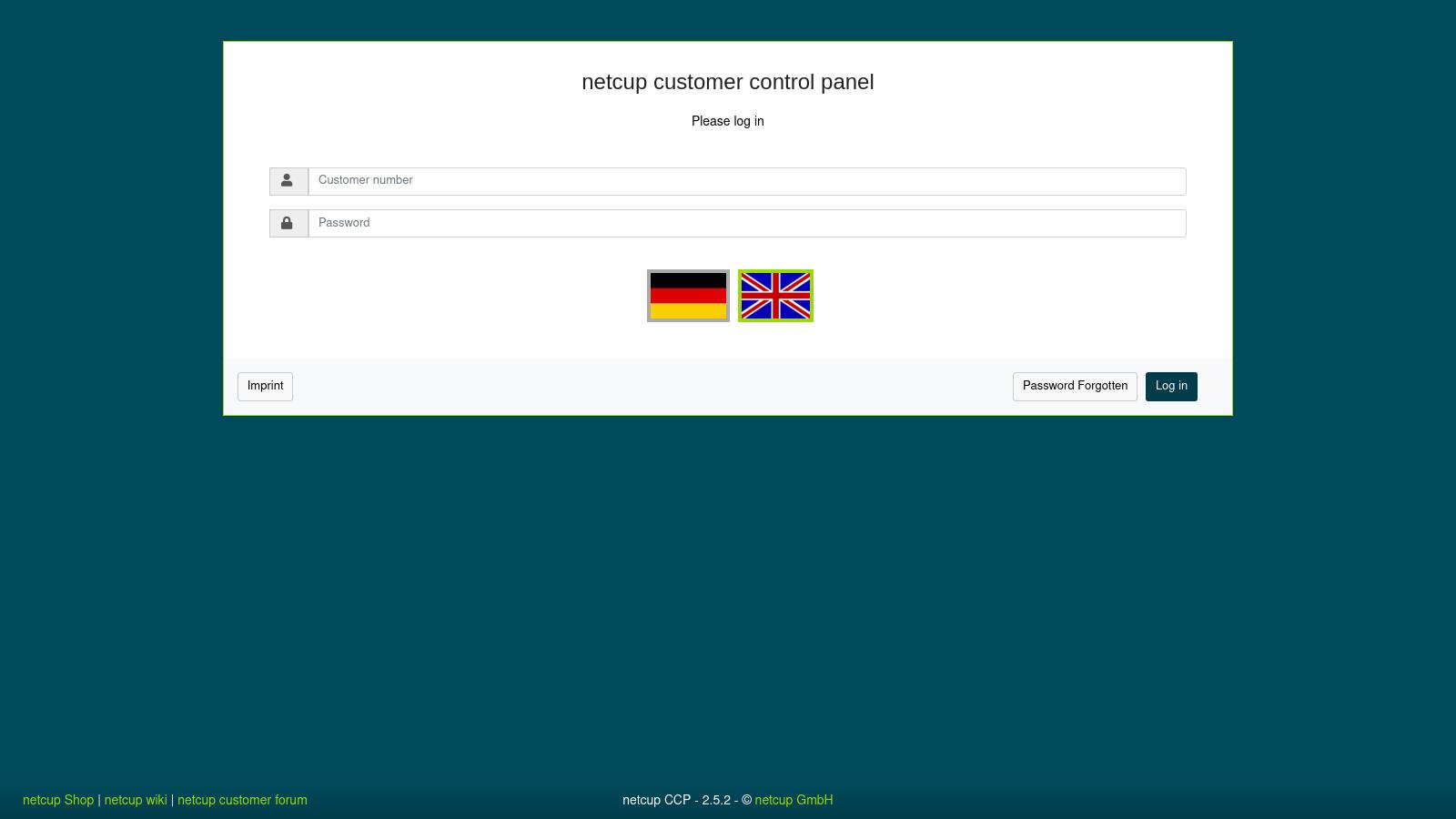 Netcup Customer Control Panel Login